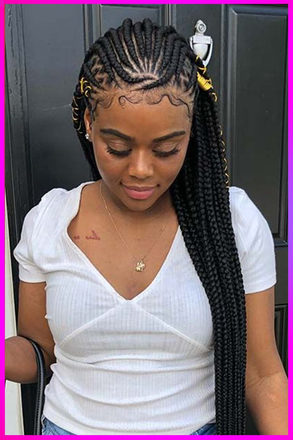 Hottest New Stylish Long Curly Braided Hairstyles For Womens With Round Face In 2020 Braids For Black Women Hair Styles Braided Hairstyles