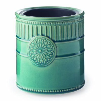 Candle Warmers Etc. Ceramic Candle Warmer Crock, Medallion