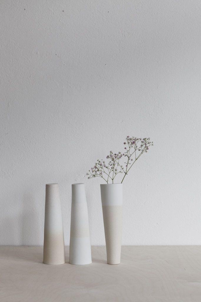 Minimalistic Ceramic Vases by Kirstie van Noort | Photo by Studio Oink