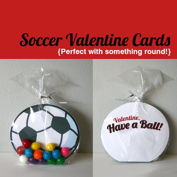 Printable Soccer Valentines Cards  Have a Ball by PBJandJ on Etsy