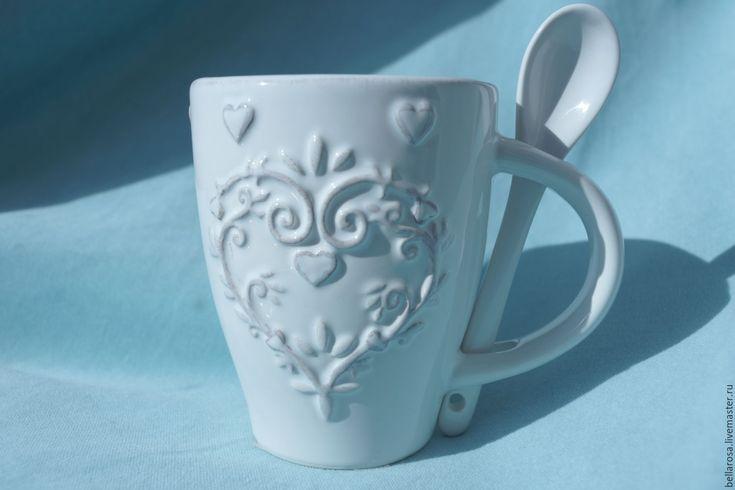 Купить Чашка-ваза винтаж - белый, ваза, ваза для цветов, ваза декоративная, чашка, кашпо