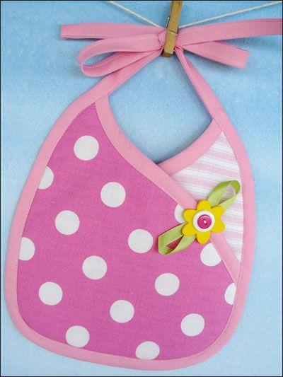 Sewing - Patterns for Children & Babies - Bib & Booties Patterns - Crossover Bib