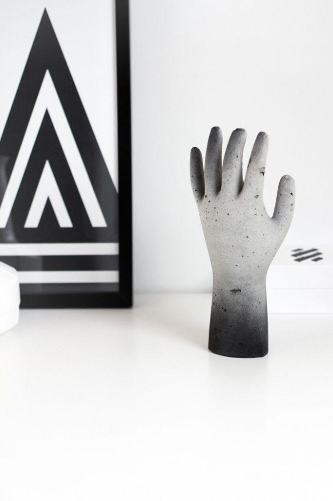 Via MyDubio | DIY Concrete Hand | One Must Dash Bla Poster http://diycrafts2013.tumblr.com/post/66382199025/how-to-tie-a-tie-3-ways-diy