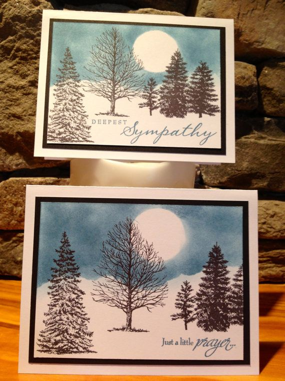 Handmade Cards Hand Stamped Sympathy Cards set