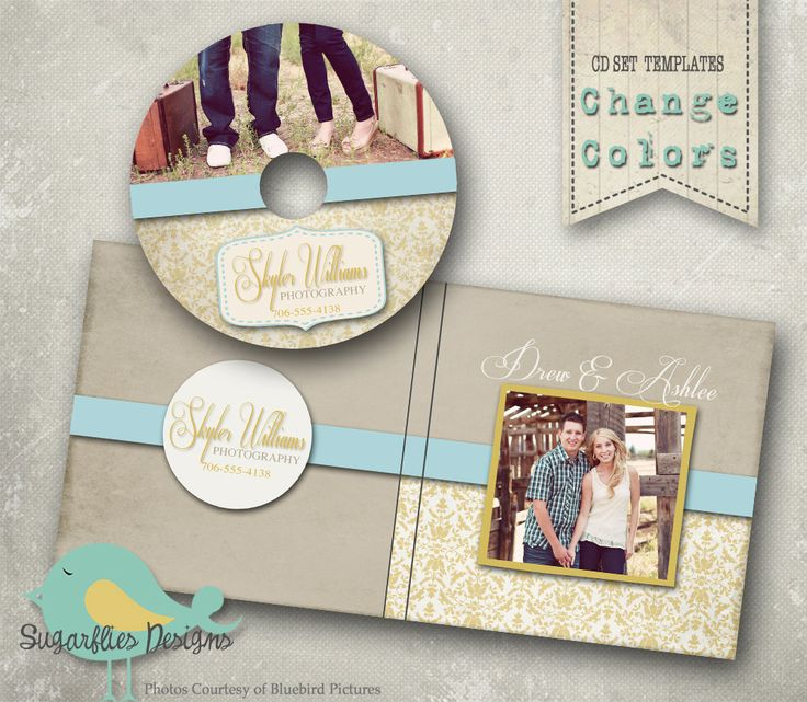 CD/DVD Label and Cover Templates - DVD Case & Label Rich. $12.00, via Etsy.