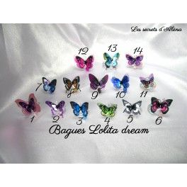 Nouveautés bagues Lolita dream Pièce unique  Disponibles sur   © Les secrets d'Aléna ® - Marque déposée -