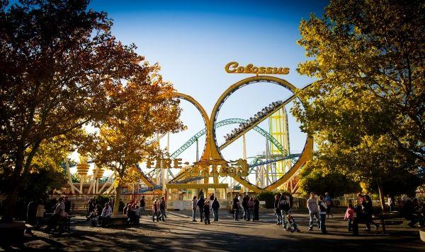 Lagoon Amusement Park in Farmington, Utah. This is the great Colossus…