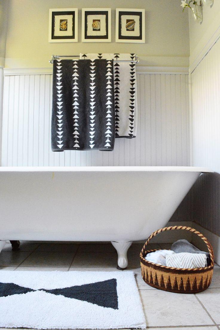 West Elm - Scandinavian Style Black and White Bathroom