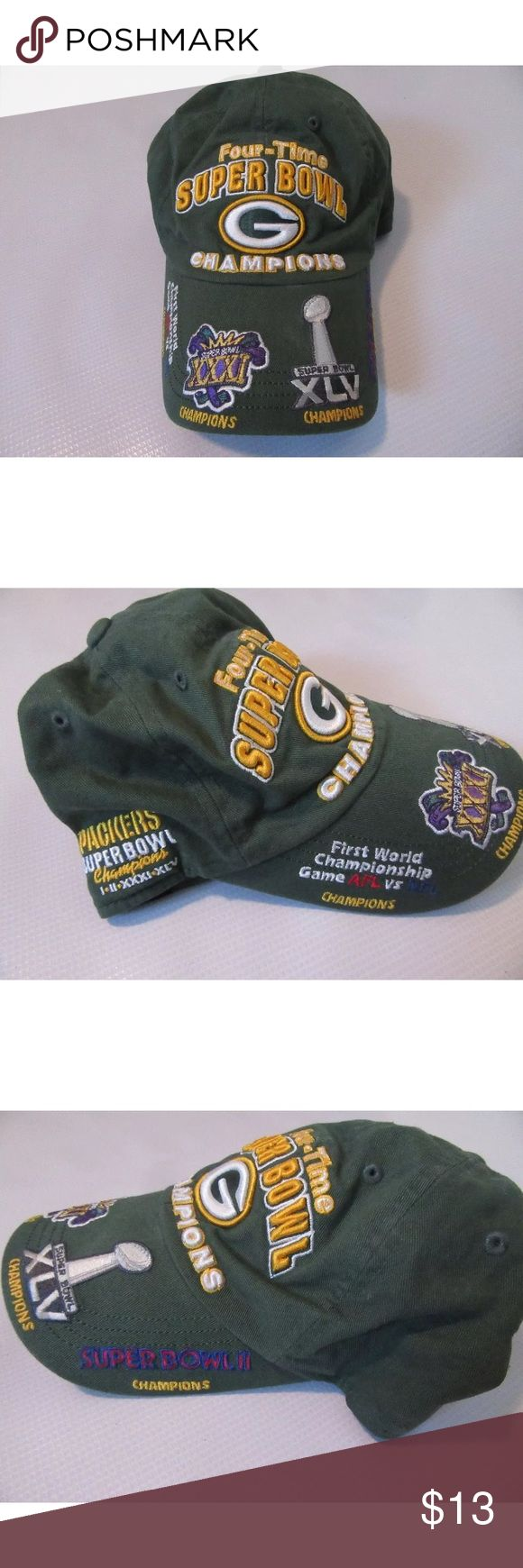 47 Brand Green Bay Packers Super Bowl Hat Item is in good condition 47 Brand Accessories Hats