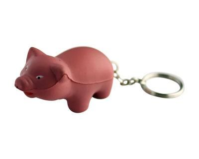 STRESS PIG KEYRING – S88  Price includes 1 color, 1 position print   2 Color imprint available for an additional charge  Decoration option: Pad print  Printing Size: 20mm x 20 mm  Product Size: 30mm x 60mm x 33 mm