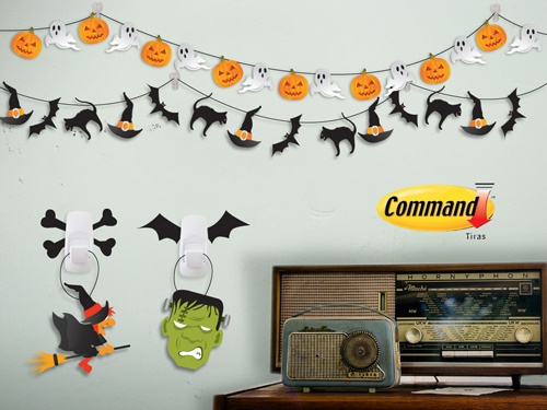 Ganchos command para halloween utiliza los los clips for Articulos decoracion halloween