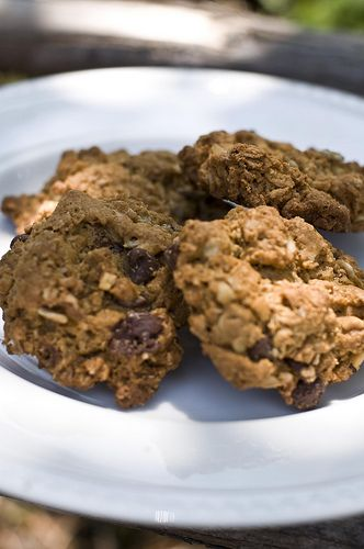 Gluten Free Oatmeal Peanut Butter and Chocolate Chip Cookies