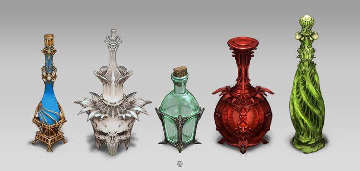 Bottles by Fesbraa.deviantart.com on @DeviantArt