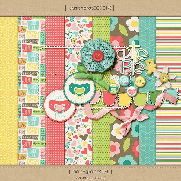 Baby Grace mini kit freebie from Lisa Sisneros Designs