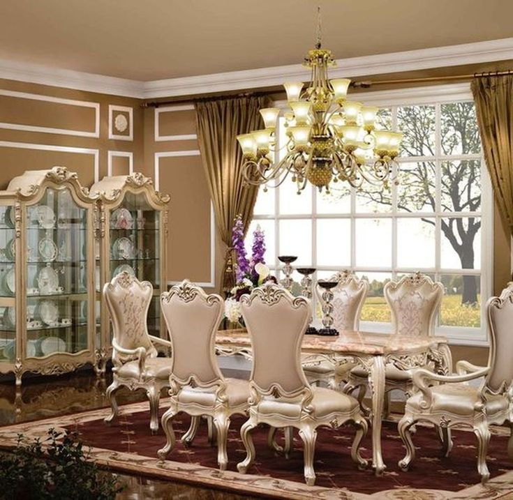 50 glorious and luxury western dining room design dining for Western dining room ideas