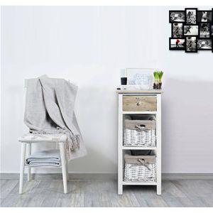 Pratiche e funzionali cassettiere con cassetti in legno chiaro shabby e cestini in vimini foderati. I mobili della linea REBECCA COUNTRY sono perfetti per la cucina o il bagno.  #shabby #chic #furniture #home #house #design #interior #interiors #restyling #style #makeover #vintage #retro #white #wood #beige #grey #tutorial #idea #ideas #diy #black #friday #blackfriday #cyber #monday #cybermonday #sale #sales #sconti #mobili #arredamento #mobiletto #mobiletti #living #room