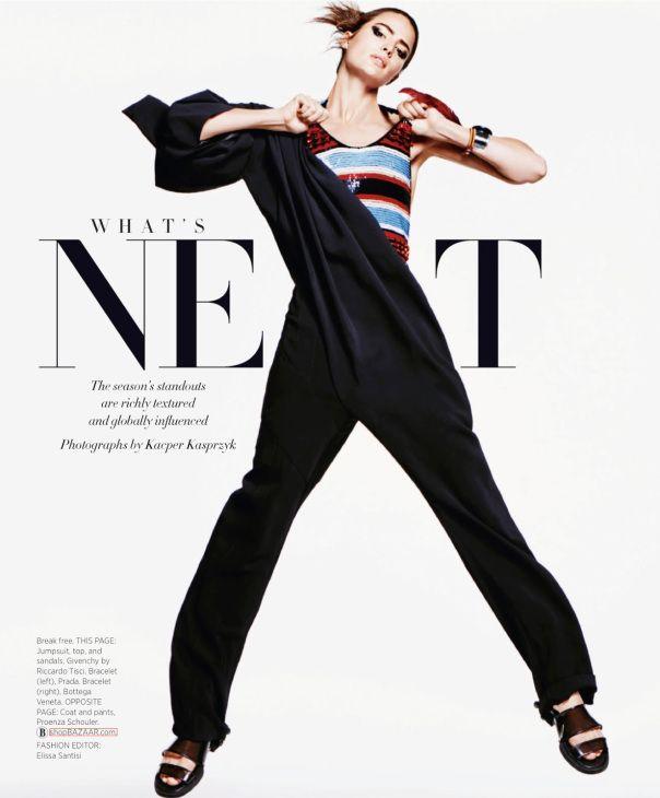awesome Harper's Bazaar March 2014 | Cameron Russell by Kacper Kasprzyk  [Editorial]