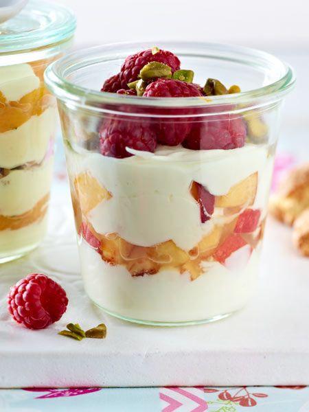 Leckere Früchtchen zwischen Joghurt-Schichten. Yummy!