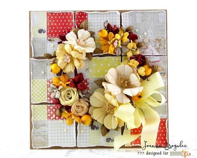 Patchwork card in autumn collors