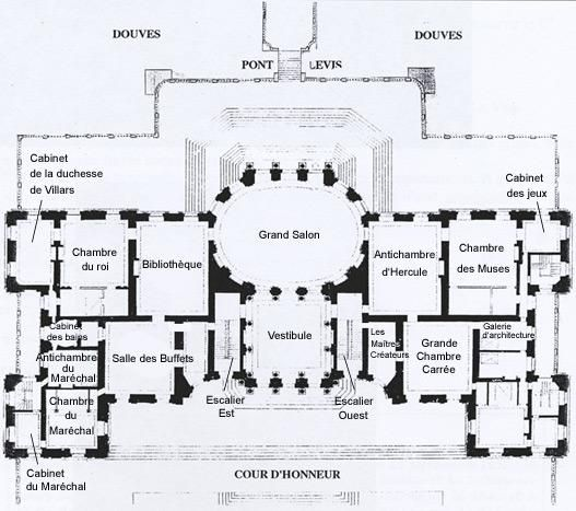 122 Vaux Le Vicomte, Ground Floor Plan, Named