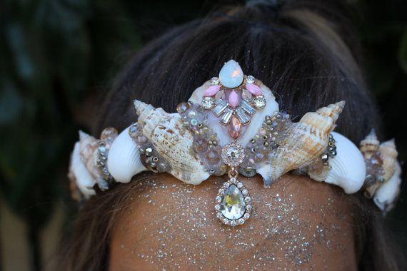 Pretty mermaid crown by chelseasflowercrowns on Etsy