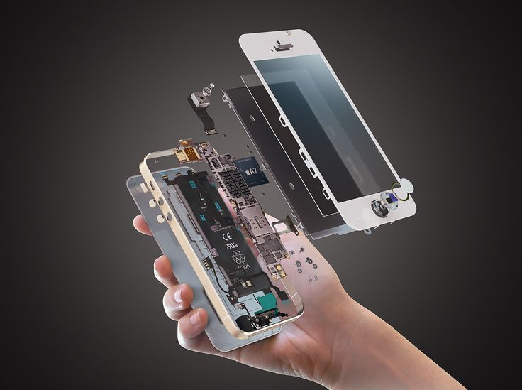 iPhone explosion on Behance