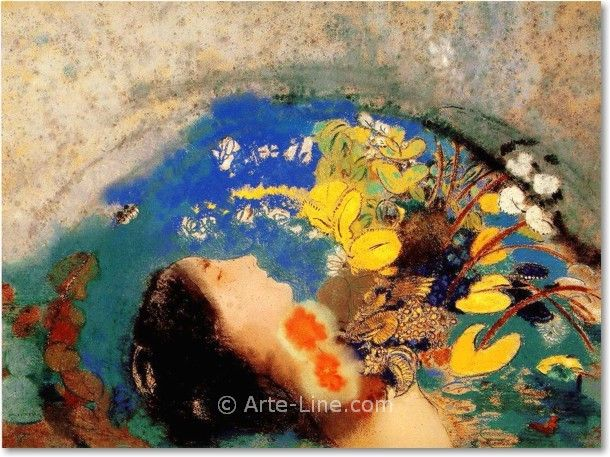 Ofelia, 1900-05, pastelli a olio, Odilon Redon. Dian Woodner Collection, New York, USA.