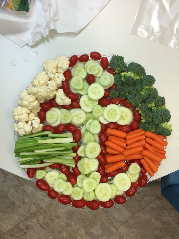 Anchor veggie tray