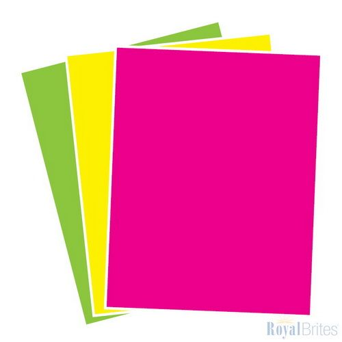 Poster Board Primary/Fluorescent Neon Variety Pack, 2 Cool, 14x22, 3/PK