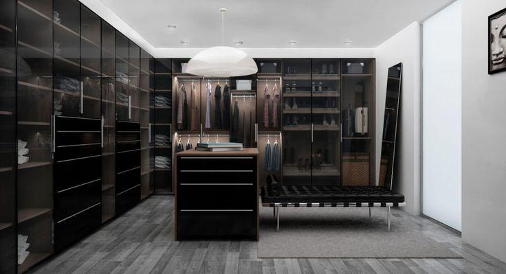Busca imágenes de diseños de Vestidores y closets estilo moderno: Zona Ella. Encuentra las mejores fotos para inspirarte y y crear el hogar de tus sueños.