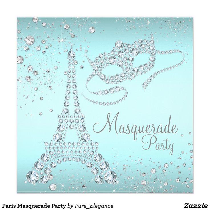 Paris Masquerade Party Invitation