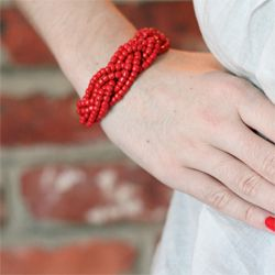 Braided Bead Bracelet | Simply Allis I've been seeing gorgeous braided bead