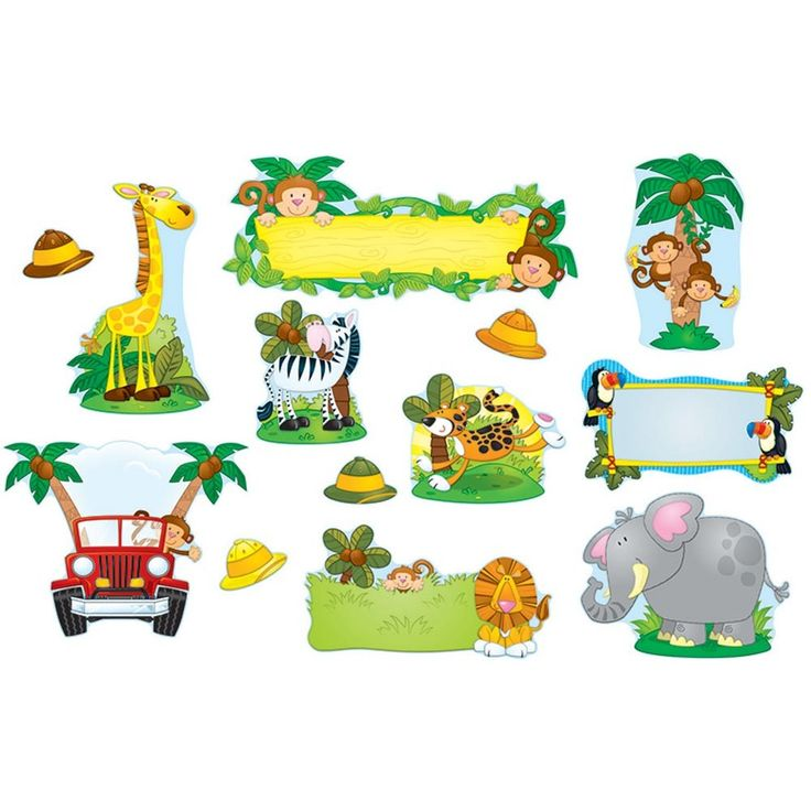 CD-110152 - Jungle Safari Bulletin Board Set in Classroom Theme