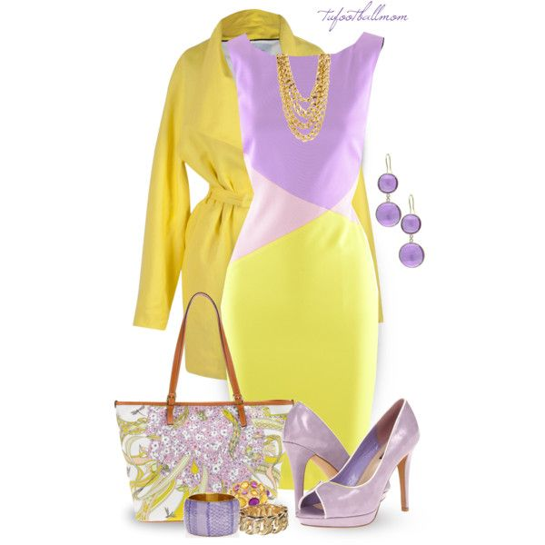 Purple & Yellow by tufootballmom on Polyvore featuring Versace, Lumiani, Emilio Pucci, Antik Batik, Fantasy Jewelry Box and Christine Phung