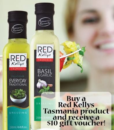 Our friends at Jo-Ann & May's Online Gourmet Food & Gift Provedore are giving customers who purchase Red Kellys Tasmania products a $10 gift voucher to spend in their online store! Hurry, the offer is only available until 10th December.  http://www.jomaysgifthampers.com.au/shop/red-kellys-m-135.html