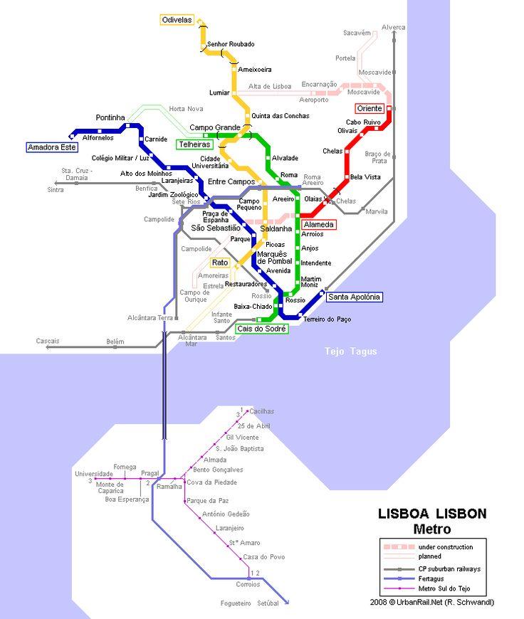 Mapa Metro Lisboa