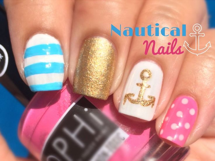 247 best thecraftyninja nail art images on pinterest crosses nautical nail art tutorial by the crafty ninja prinsesfo Choice Image