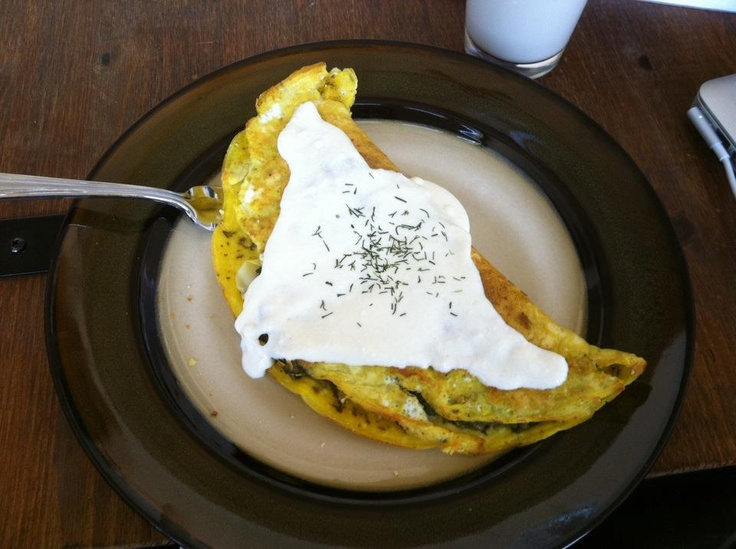 Spinach Artichoke Omelet with White Sauce. 3 eggs 2 or 3 large ...