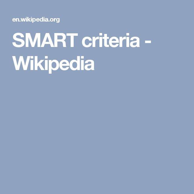 SMART criteria - Wikipedia