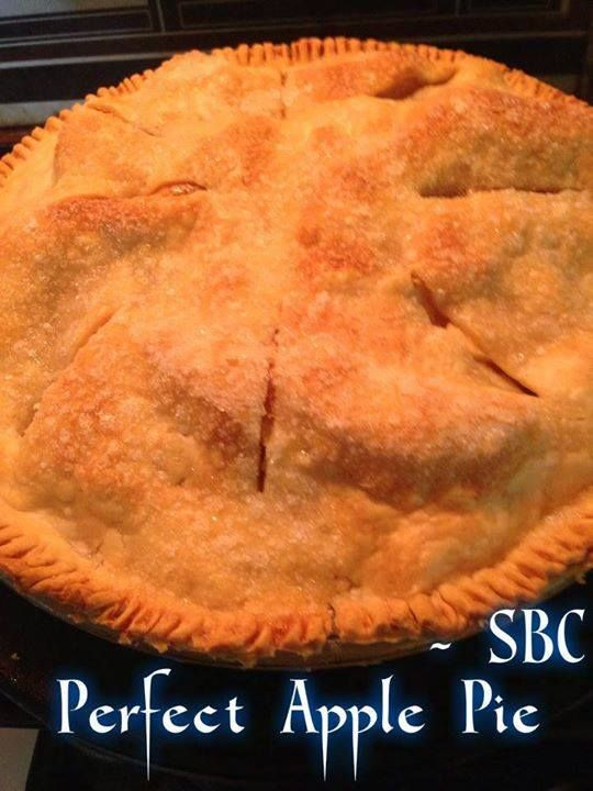 <3 PERFECT APPLE PIE <3  2 pie crusts 1/2 cup butter 3 TBS flour... 1/4 C water 1/2 C white sugar 1/2 C brown sugar 1 tsp cinnamon 6-8 apples (depending on size) - I used Honey Crisp and Winesaps  Preheat oven to 350 degrees. Peel and slice apples and mound up in bottom pie crust. In saucepan, melt butter and stir in flour to make a paste. Stir in water, cinnamon and both sugars. Cook on low until thoroughly mixed Pour syrup over apples. cover with top crust, cut slits for ventilation Cook…