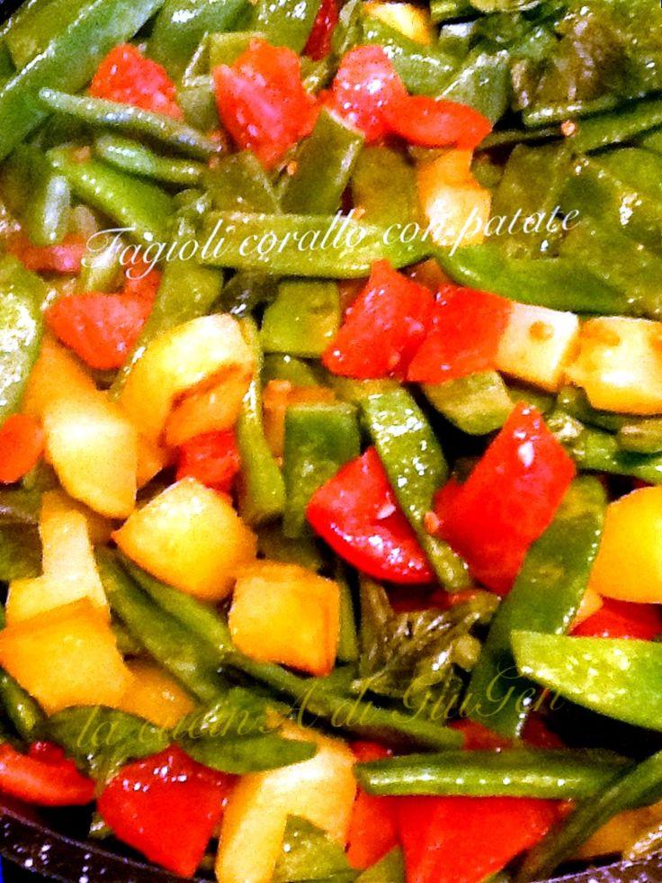 Fagioli+corallo+con+patate+-+ricetta+contorni  Un piatto regionale calabrese