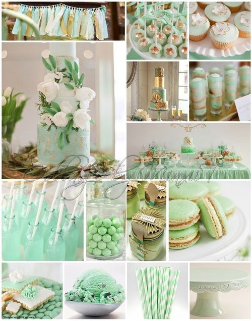 MINT & GOLD - weddings - engagements - theming - candy bar ideas
