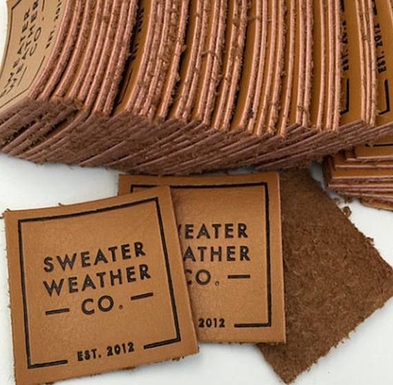 300 custom genuine Leather label Thick Leather with metal
