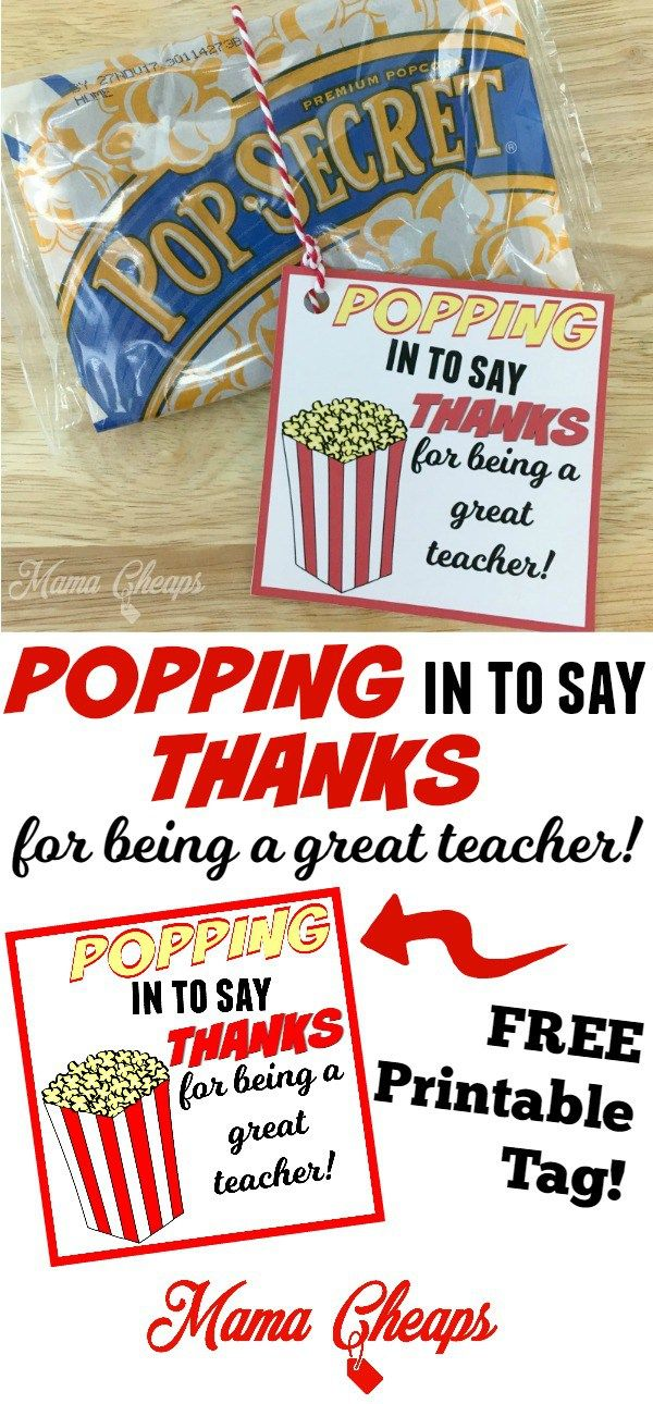 POPPING in to Say THANKS DIY CRAFTS Teacher Gift Ideas