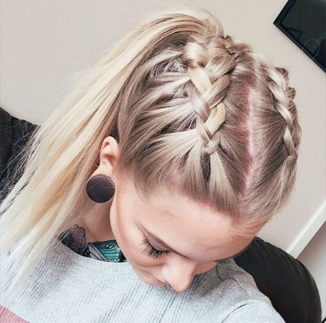 Best 25 soccer hairstyles ideas on pinterest basketball double french crown braids for long hair with high ponytail tap the link now to find the hottest products for better beauty pmusecretfo Images