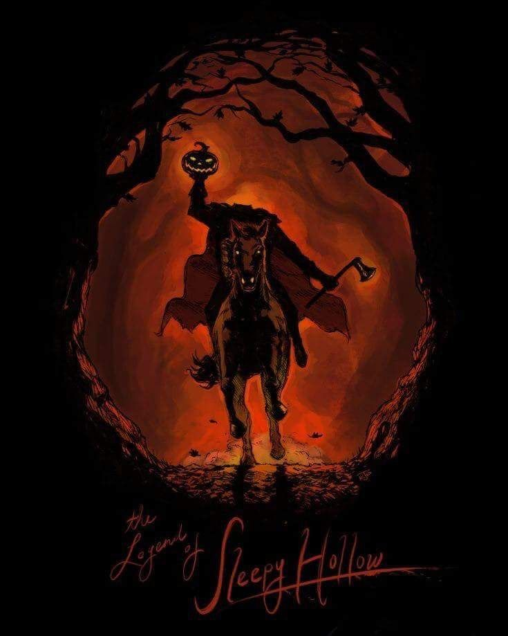 Pin By Guys Guys Guys We Ve Got A Huu On Halloween Pictures Sleepy Hollow Halloween Halloween Artwork Headless Horseman