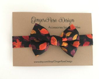 Leaves Bow Tie; Thanksgiving Bow Tie; Fall Bow Tie; Autumn Bow Tie; Boys Bow Tie; Toddler Bow Tie; Adjustable Bow Tie with Velcro