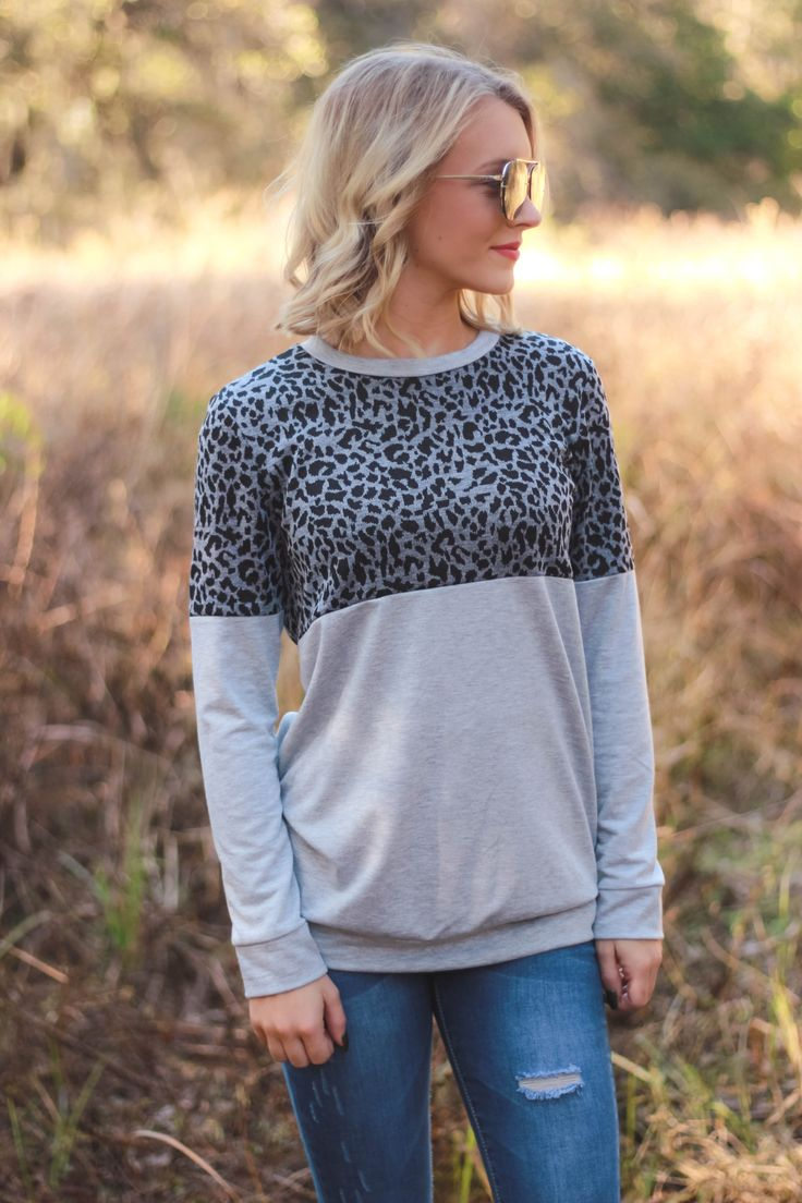 Kettle falls leopard top