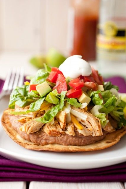 Slow Cooker Chicken Tostadas. dinner. this week. for sure.