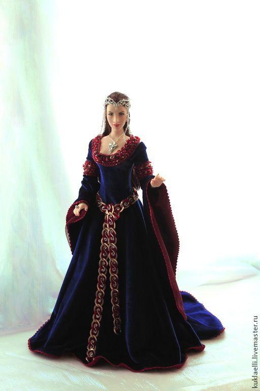 Купить Кукла Эльфийка - кукла, эльфийка, Властелин колец, средневековое платье, авторская кукла